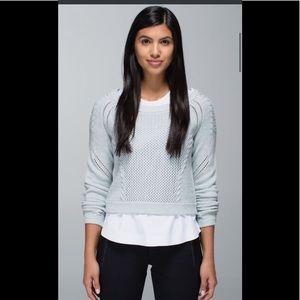 Lululemon Be Present Pullover Sweater Aquamarine 8